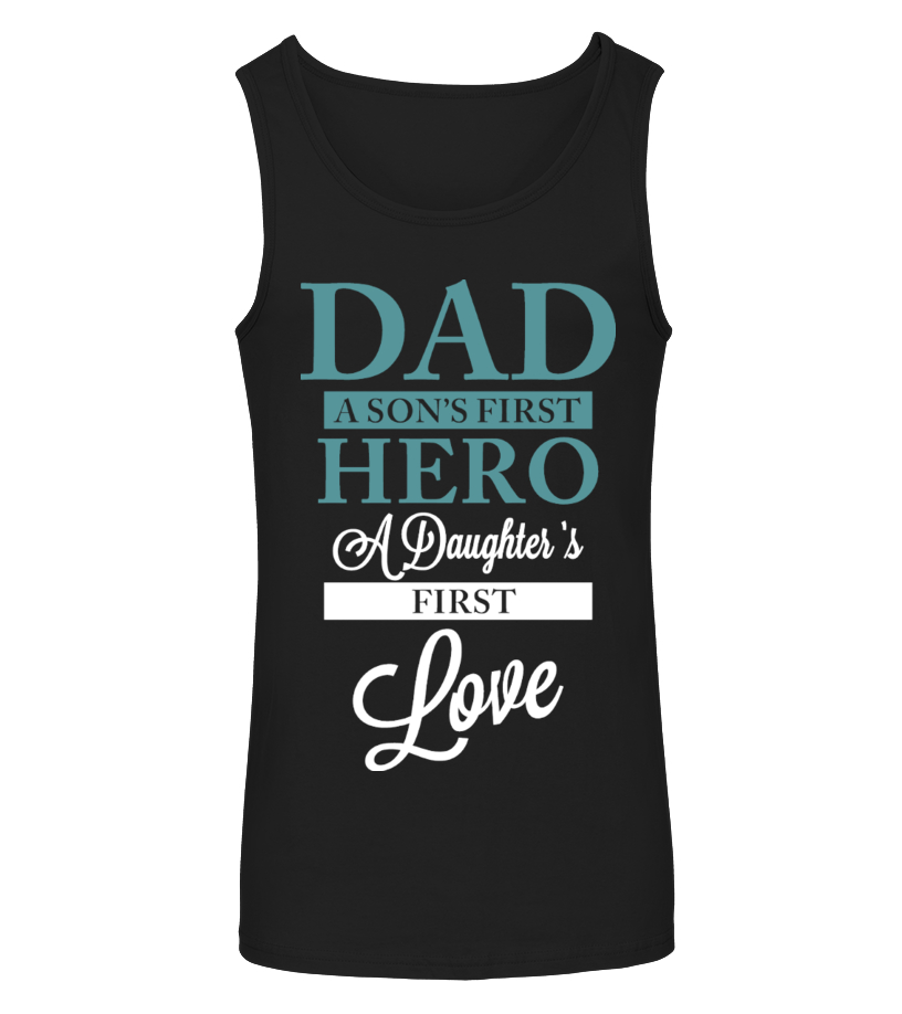 49260685 Amazing Animals Father V-neck - DAD - SONS HERO - DAUGHTERS FIRST LOVE  Débardeur