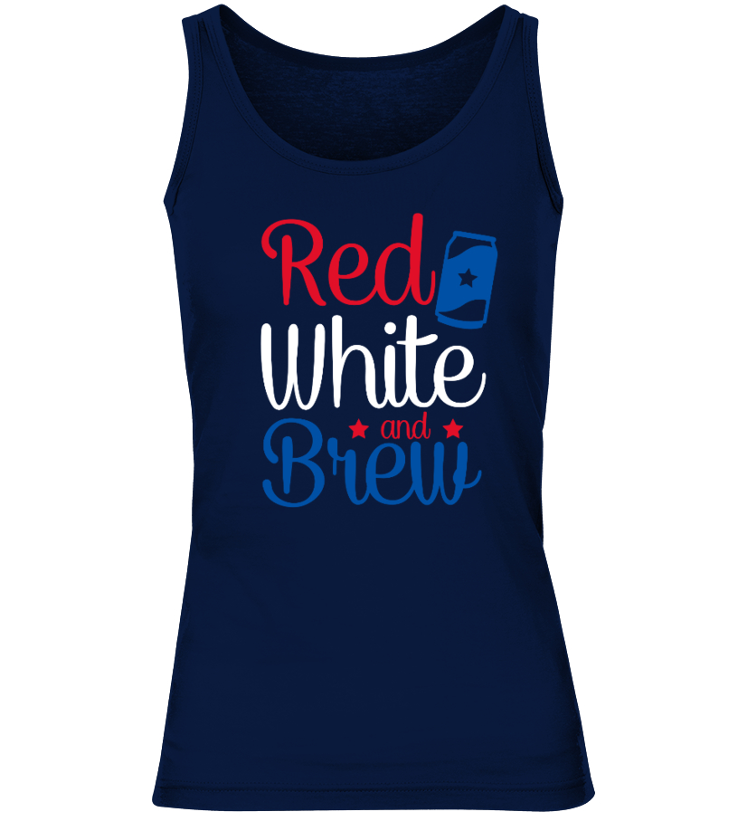 RED WHITE AND BREW SHIRT - 4TH OF JULY