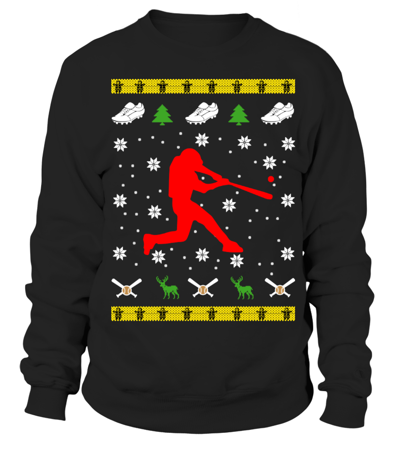 baseball christmas sweater