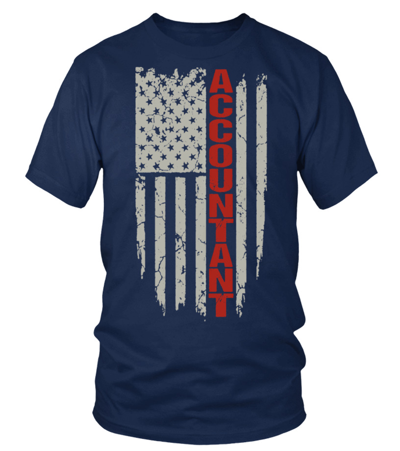 ACCOUNTANT - AWESOME FLAG T-SHIRT FOR AC