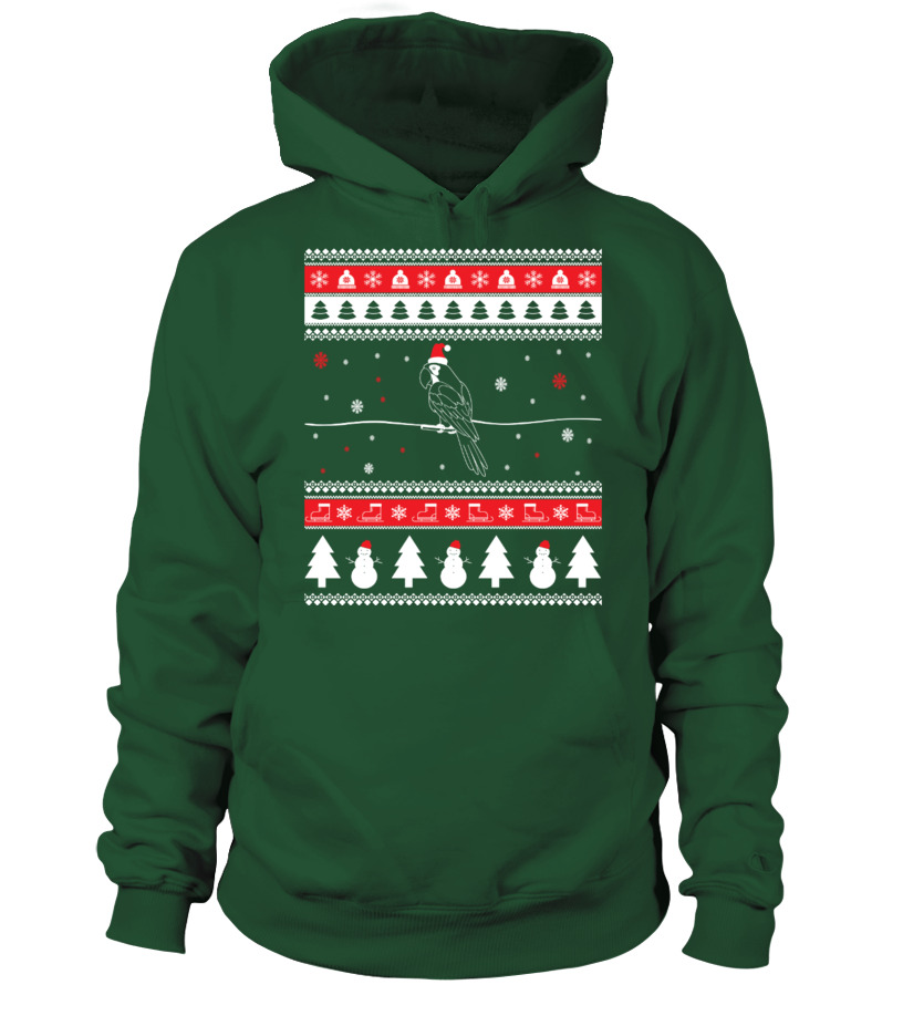 Gifts Christmas - Parrot Ugly Christmas Sweater Hoodie Unisex