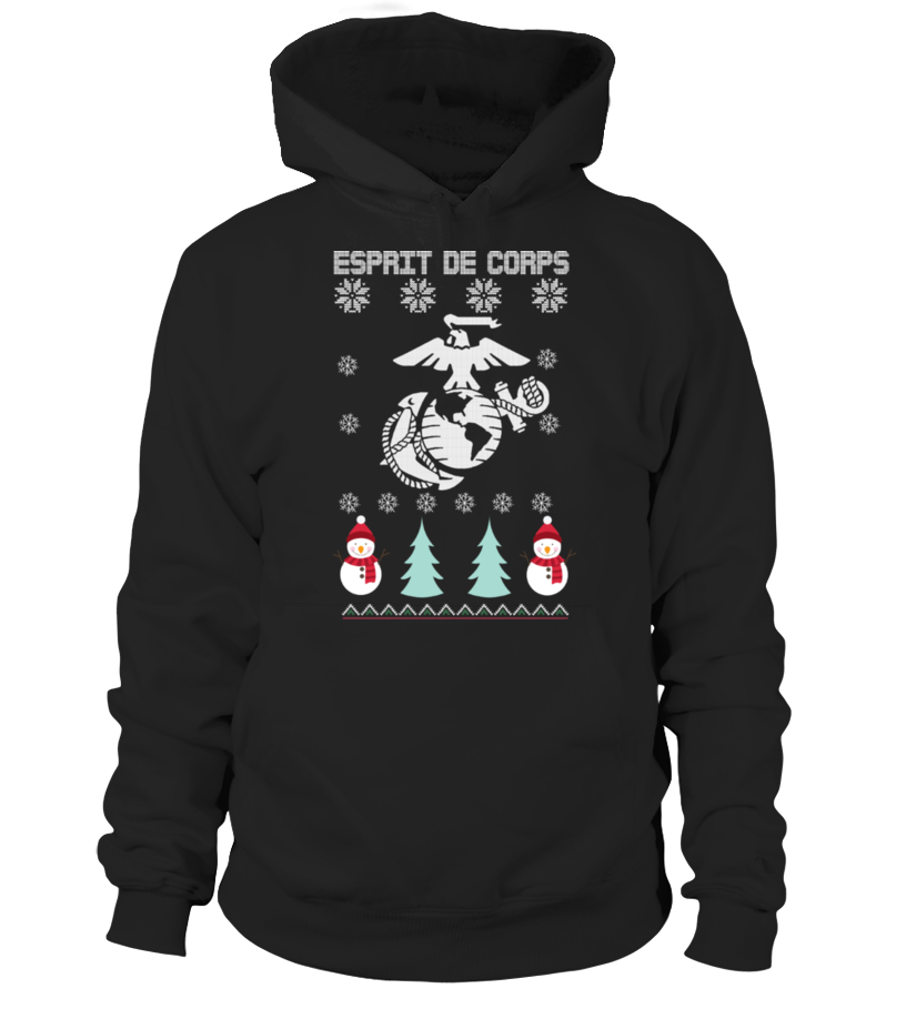 Gifts Christmas - Ugly Christmas Sweater for Marines Army Hoodie Unisex