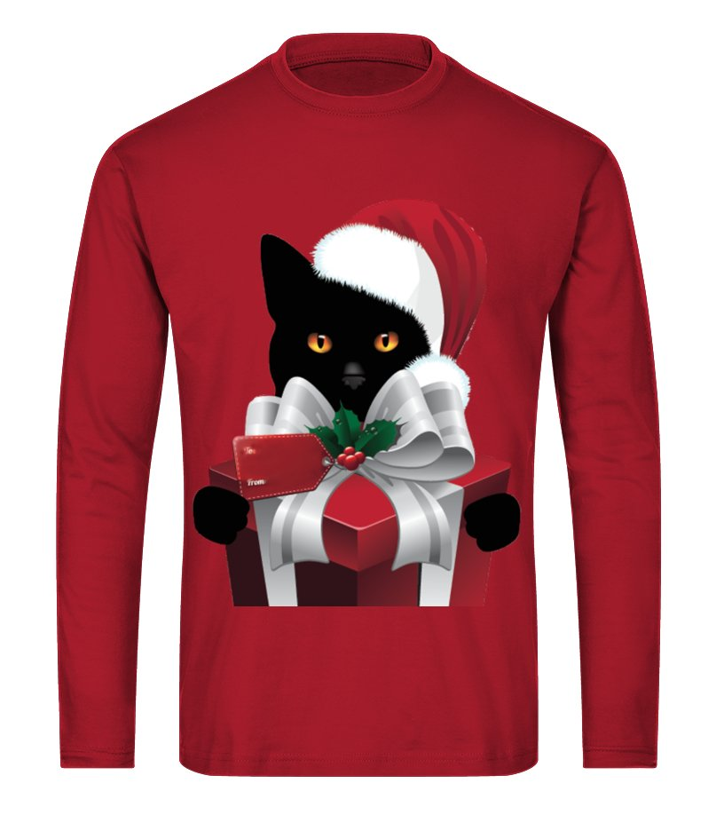 Gifts Christmas - A GIFT FROM YOUR CHRISTMAS CAT Long sleeved T-shirt Unisex
