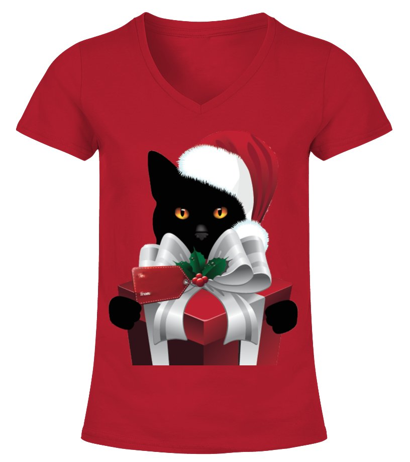 Gifts Christmas - A GIFT FROM YOUR CHRISTMAS CAT V-neck T-Shirt Woman