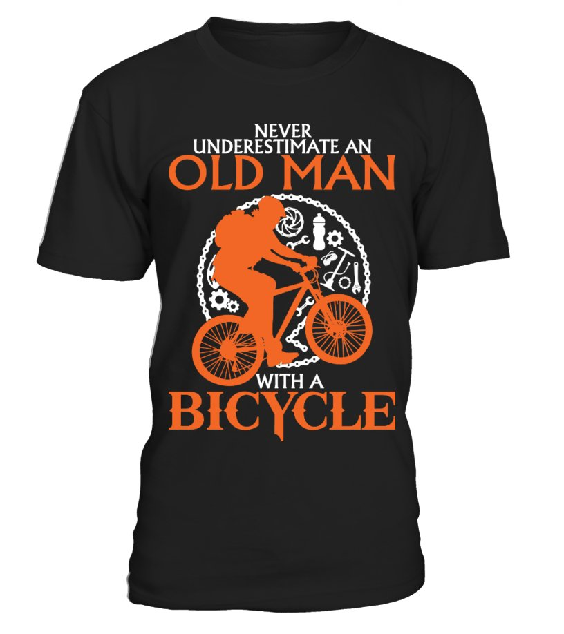 OLD MAN WITH A BICYCLE - FRONT
