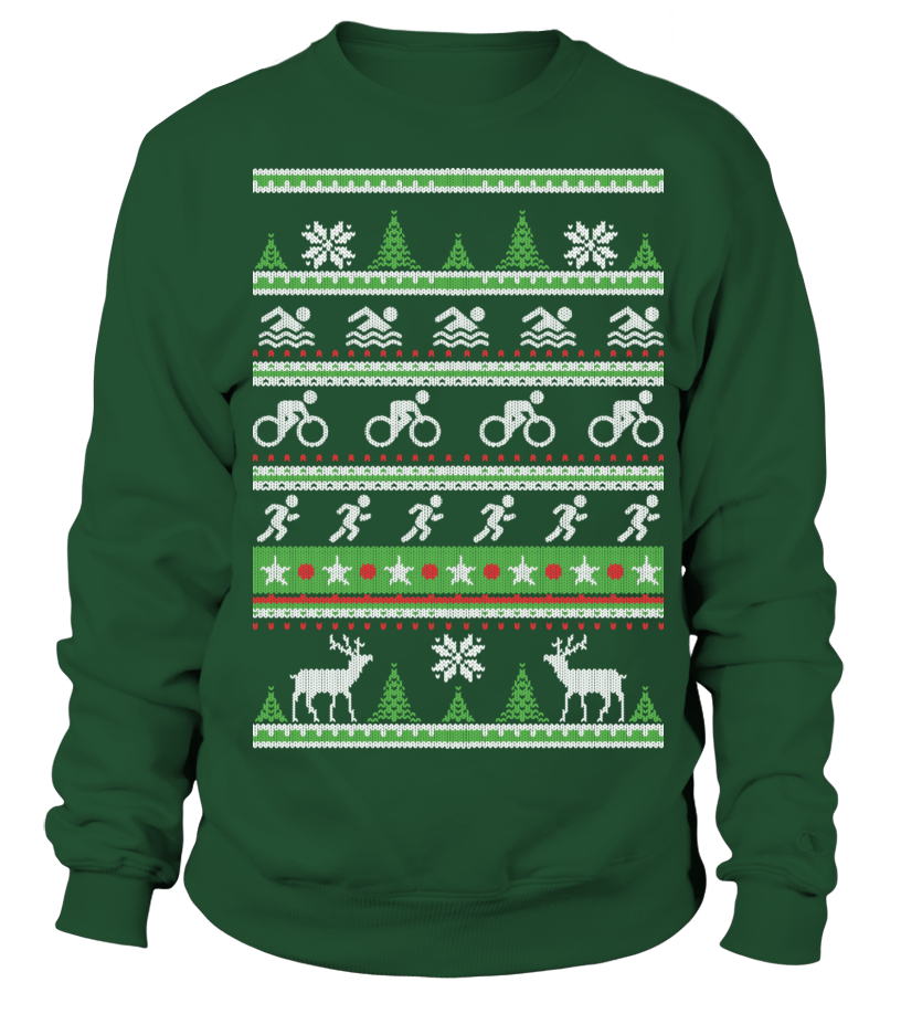 Triathlon Ugly Christmas Sweatshirt Weihnachten