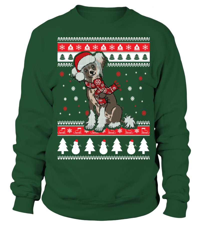 Chinese Crested Ugly Christmas Sweater