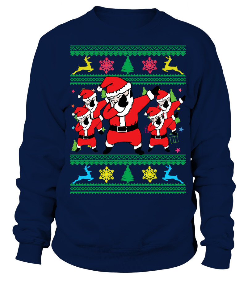christmas dabbing santa ugly christmas sweater