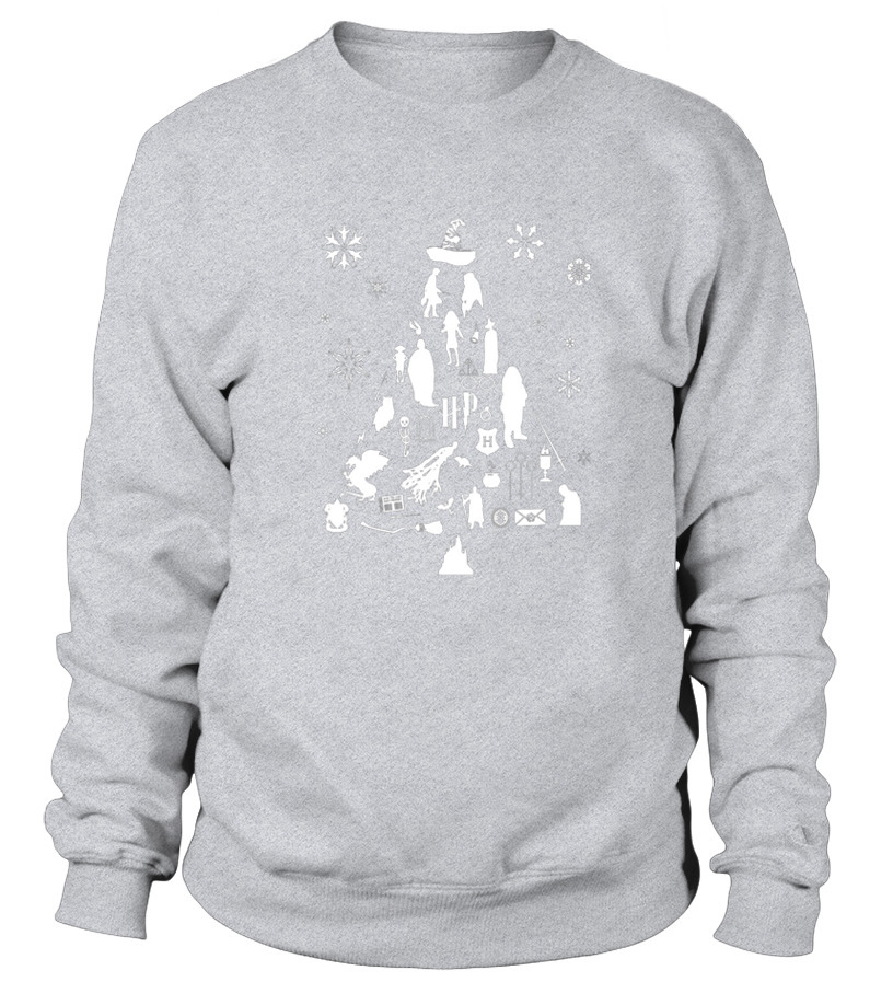 Awesome Christmas - Harry Potter Christmas Tree Silhouette Sweatshirt Unisex