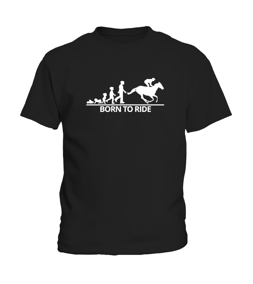 Gifts Horse Tees - Born To Ride, Horse Lover Shirt Kid T-Shirt