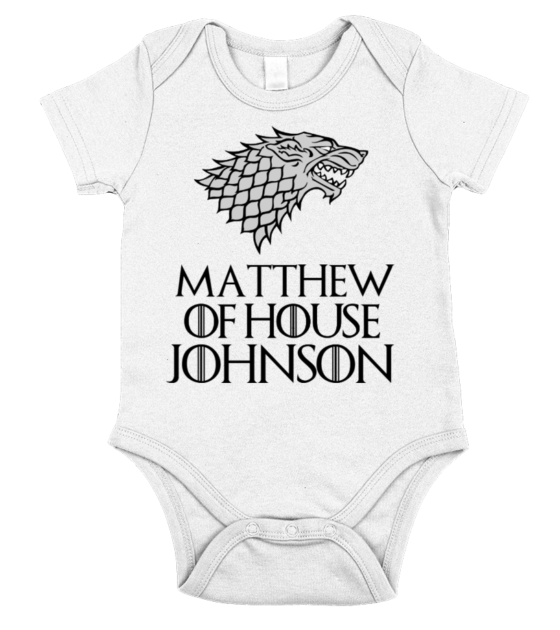 MATTHEW OF HOUSE JOHNSON - CUSTOMIZABLE ONESIE