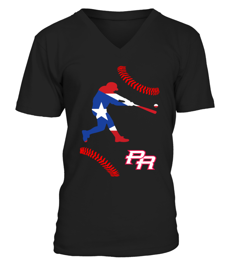 Funny Baseball - Puerto Rico baseball  2018 V-neck T-Shirt Unisex