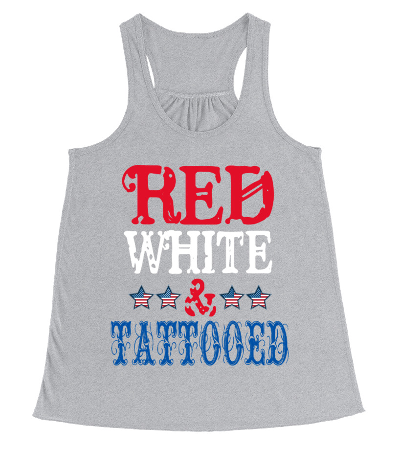 RED WHITE AND TATTOOED - 4th Of July Tank