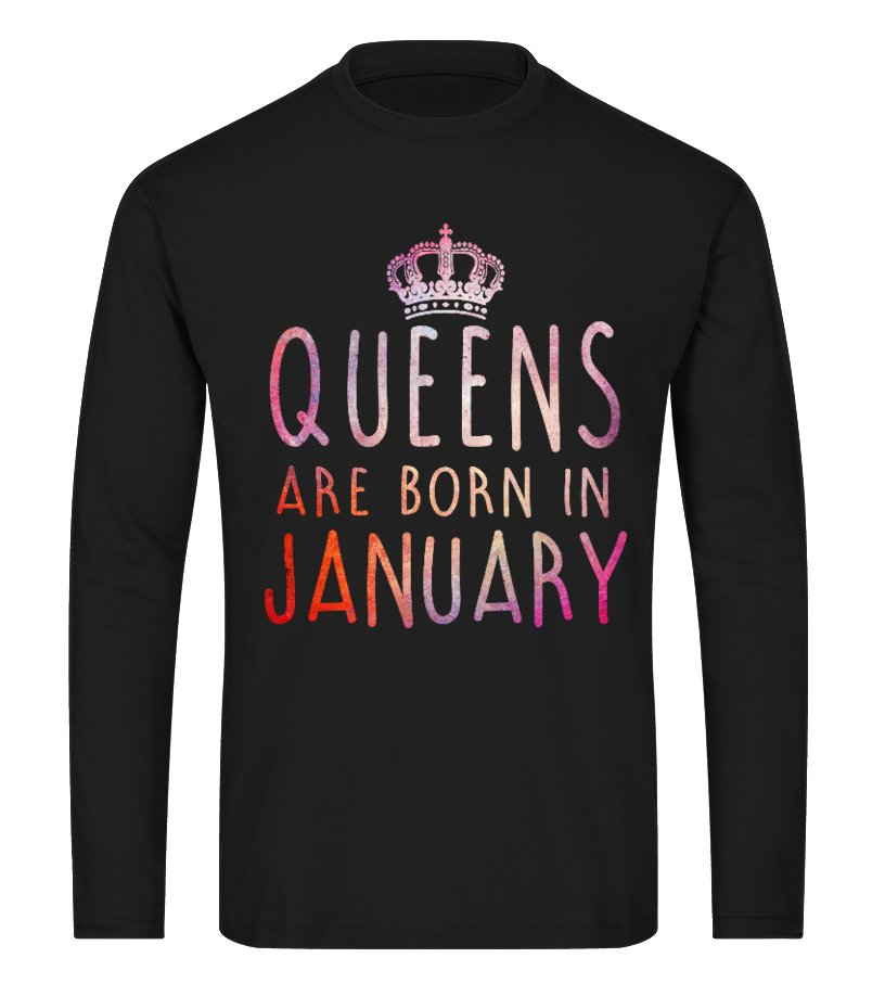 QUEEN ARE BORN IN JANUARY T-SHIRT