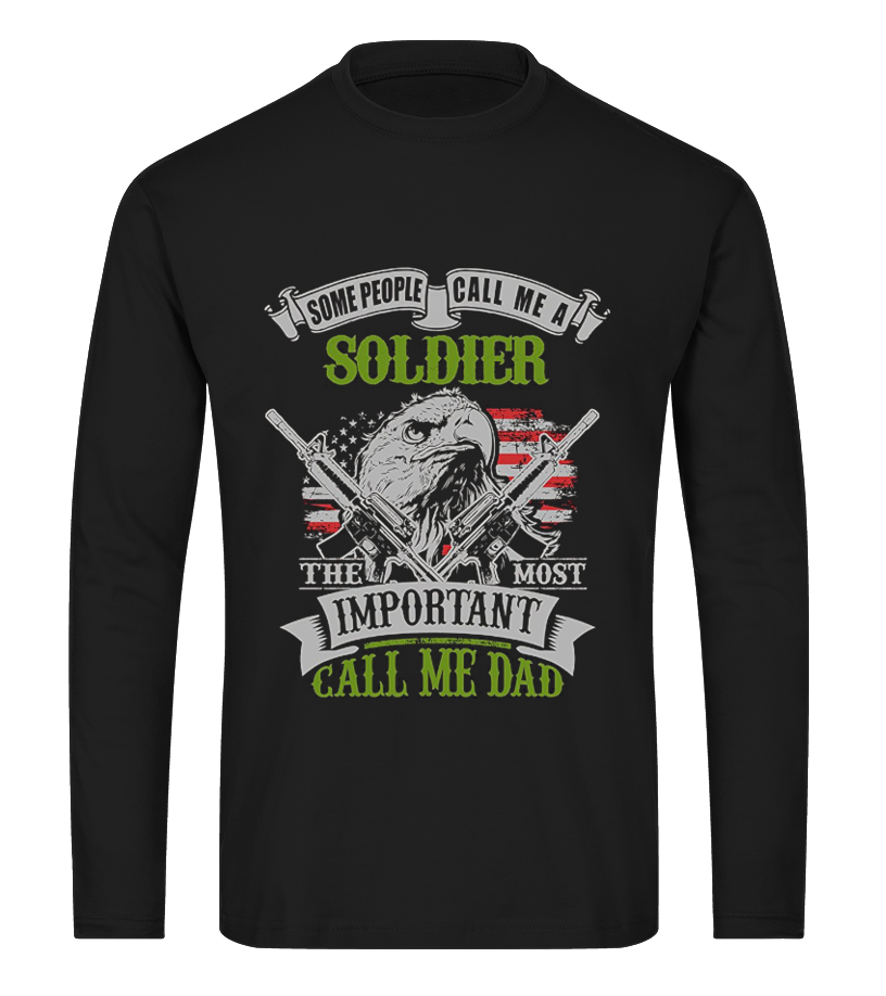 Shop Father T-Shirt - Soldier Dad Gift for Fathers Day Army 8 Long sleeved T-shirt Unisex