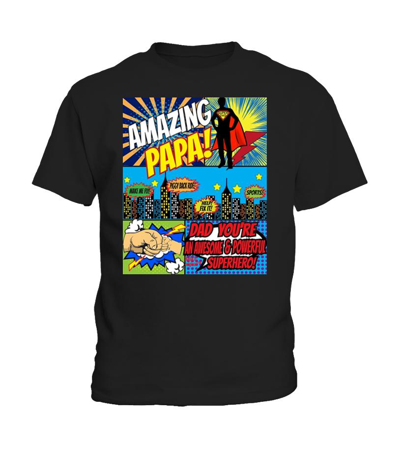 6fbccbfa Funny Animals Father Tees - Fathers Day Shirt Superhero T-Shirts T-Shirt  Enfant