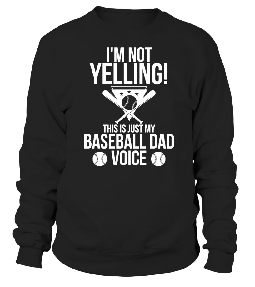 Funny Baseball - This Is Just My Baseball Dad Voice Sweatshirt Unisex