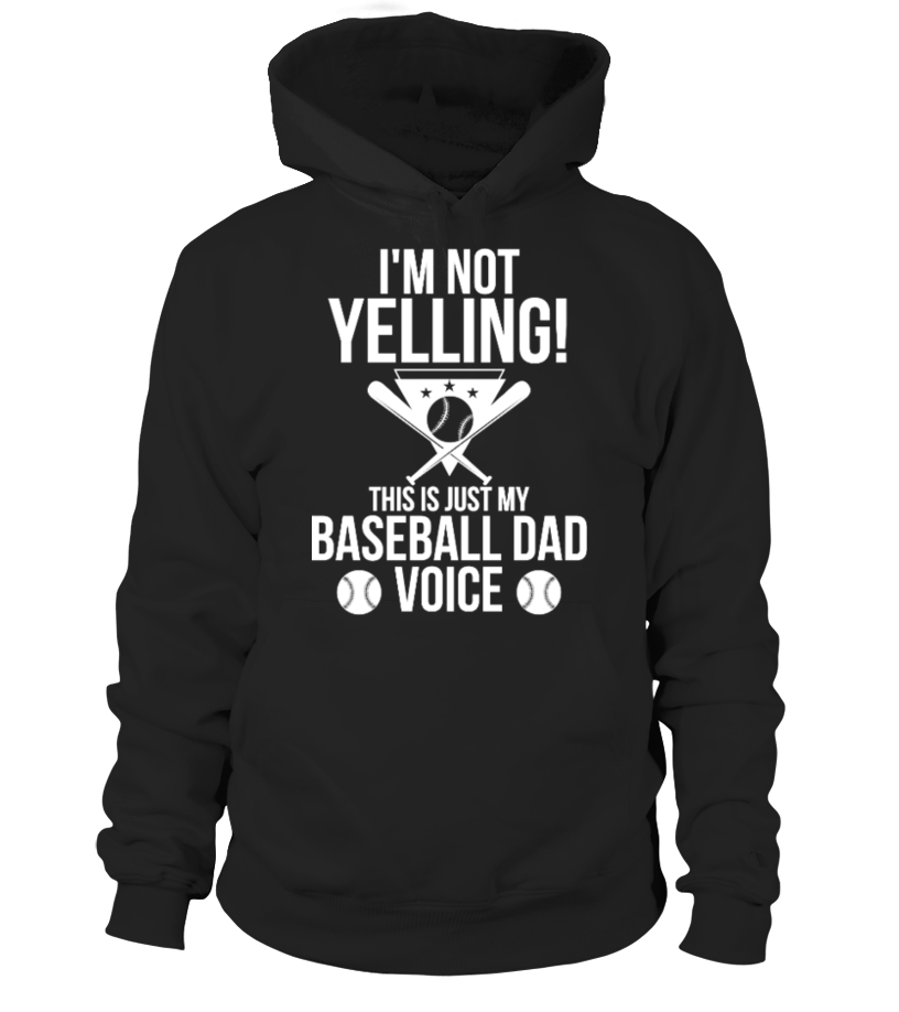 Funny Baseball - This Is Just My Baseball Dad Voice Hoodie Unisex