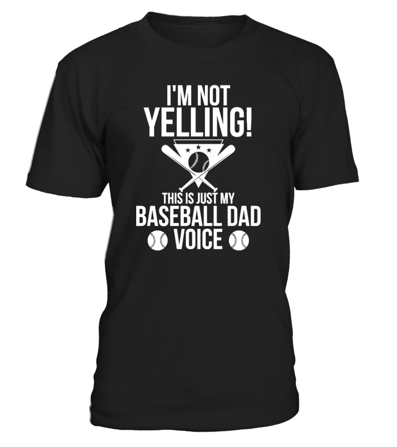 Funny Baseball - This Is Just My Baseball Dad Voice Round neck T-Shirt Unisex