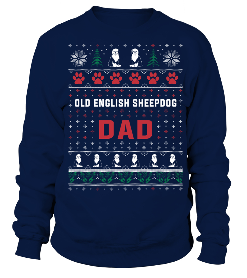Awesome Christmas - Old-English-Sheepdog-Dad-Sweater-Christmas Sweatshirt Unisex