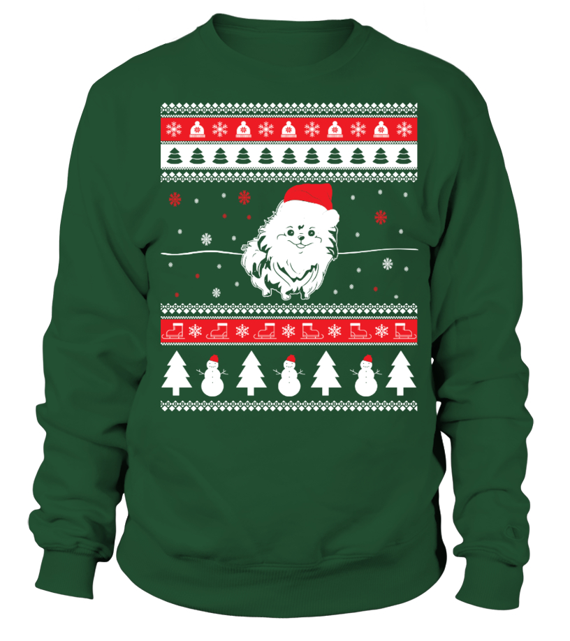 Gifts Christmas - Pomeranian Ugly Christmas Sweater Sweatshirt Unisex