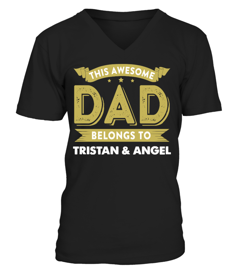Awesome Father T-Shirt - AWESOME DAD CUSTOM SHIRT FATHERS DAY V-neck T-Shirt Unisex