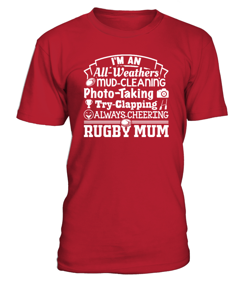 d9f627cc05d Funny Rugby - Rugby Mum Round neck T-Shirt Unisex