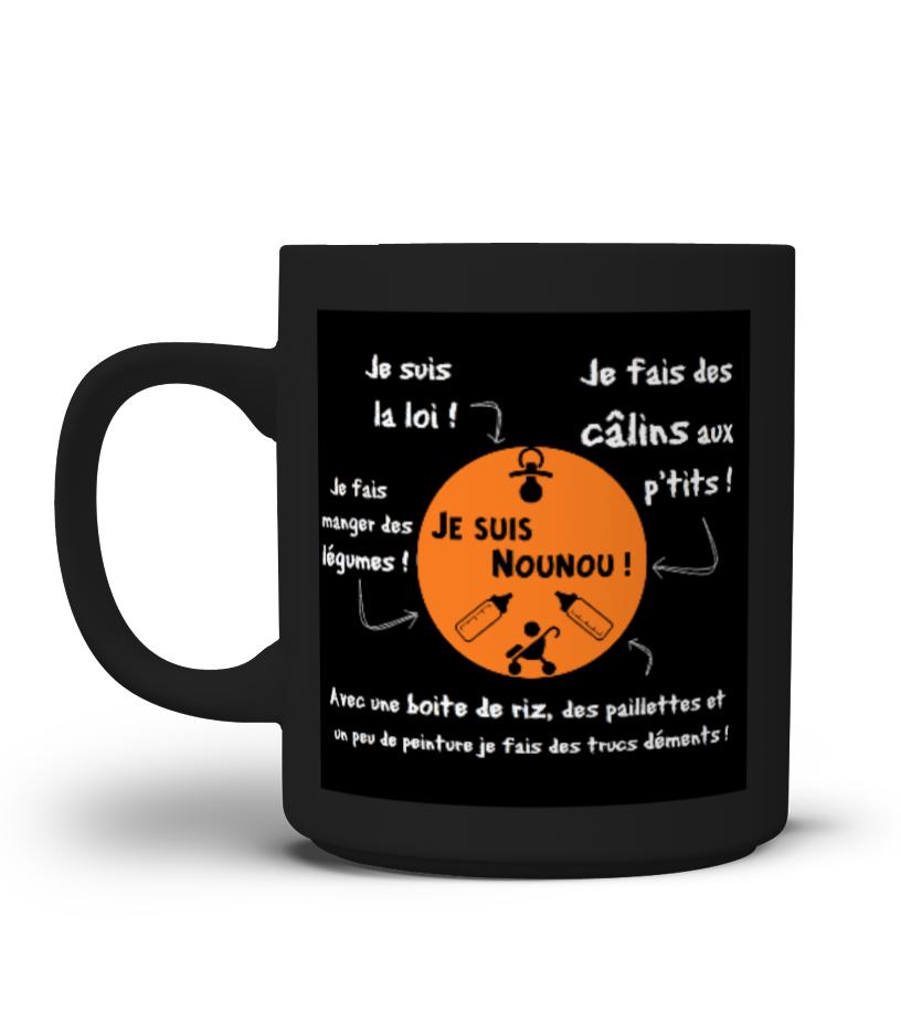 """Mug élégant """"Je suis Nounou"""""""