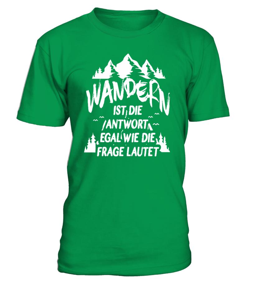 Wandern ist die Antwort.. - T-Shirt Hoodie