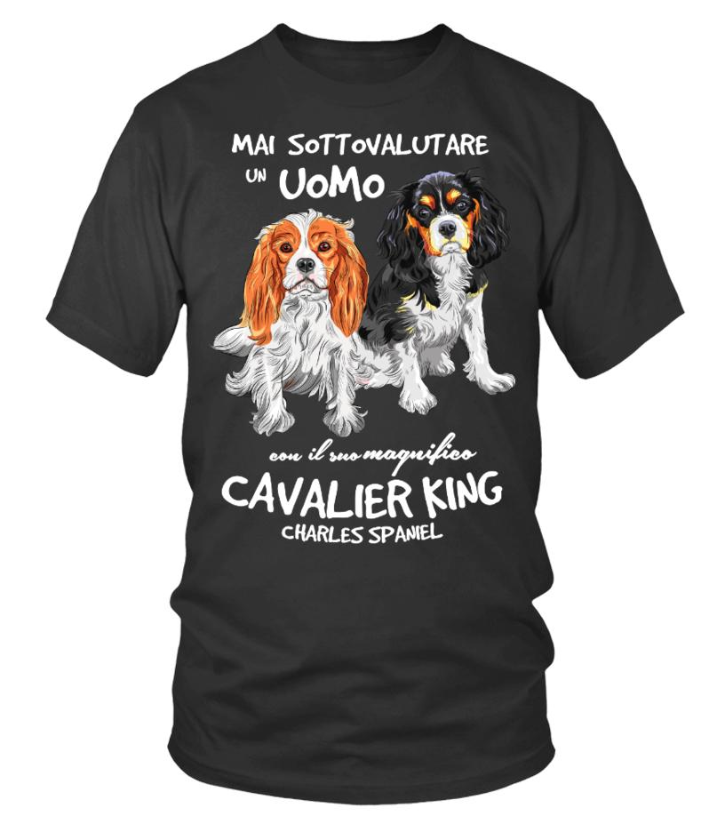 Un UOMO con un CAVALIER KING