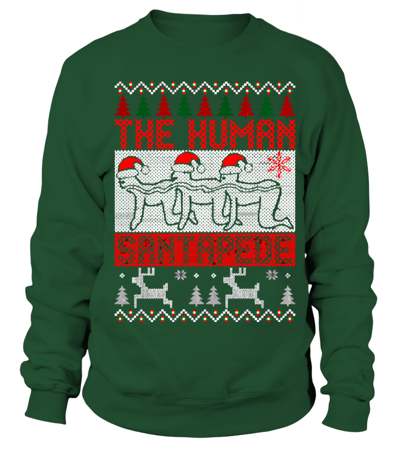 The Human Santapede Ugly Christmas Sweater