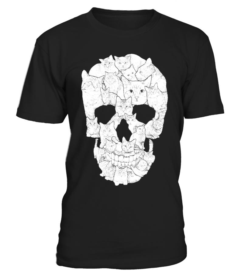 Sketchy Cat Skull
