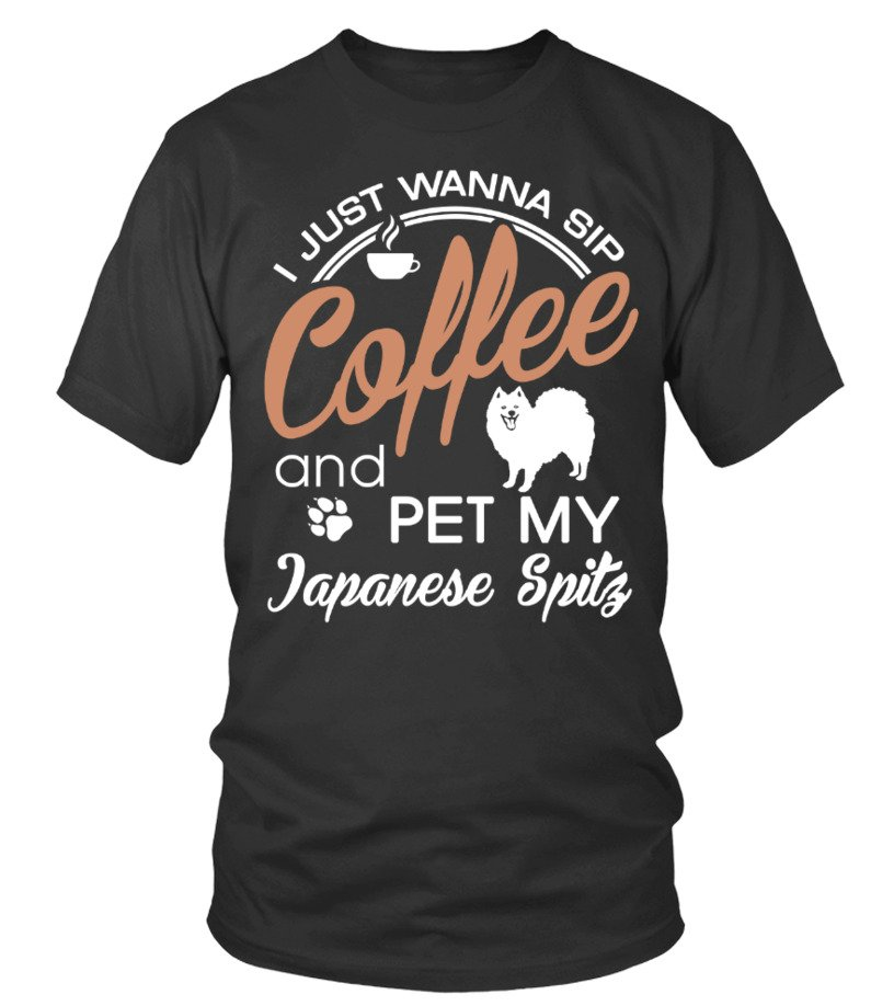 I just wanna sip coffee pet Japanese Spitz
