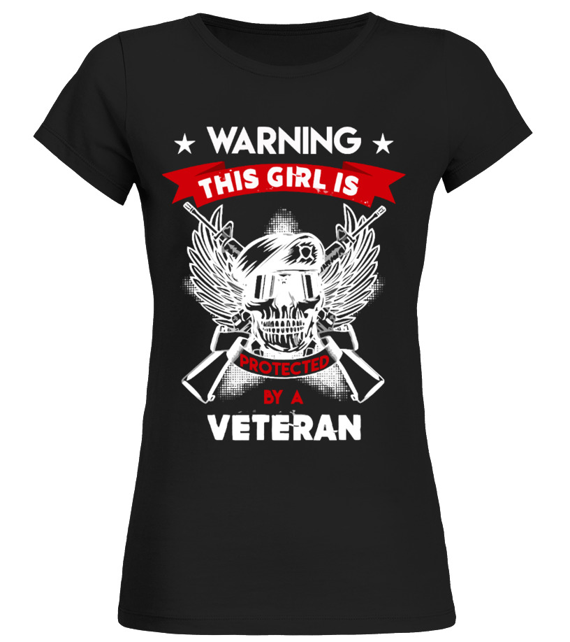 This Girl Protected By Veteran Shirt