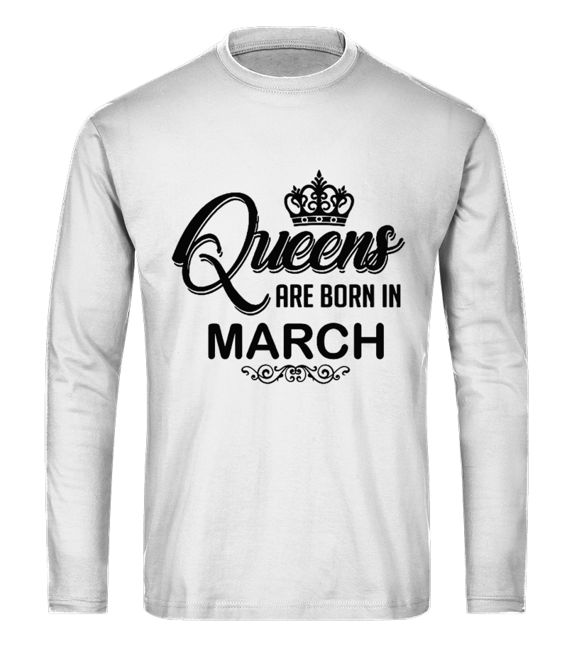 Cool Queens Are Born In March Birthday TShirt T Shirt V Neck