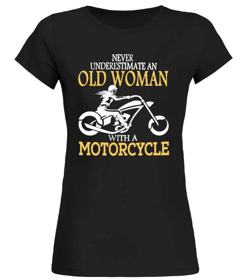 old woman with a motorcycle
