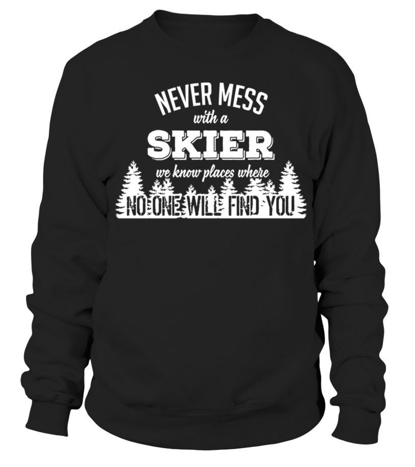 Awesome Skiing - Ski skiing skier surf Board cross slopes winter surfing surfer shirt Sweatshirt Unisex