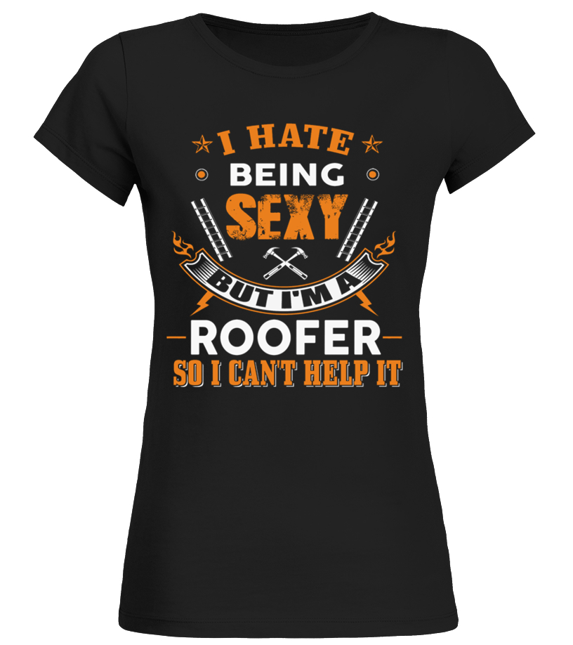 Funny Roofer - ROOFER Round neck T-Shirt Woman