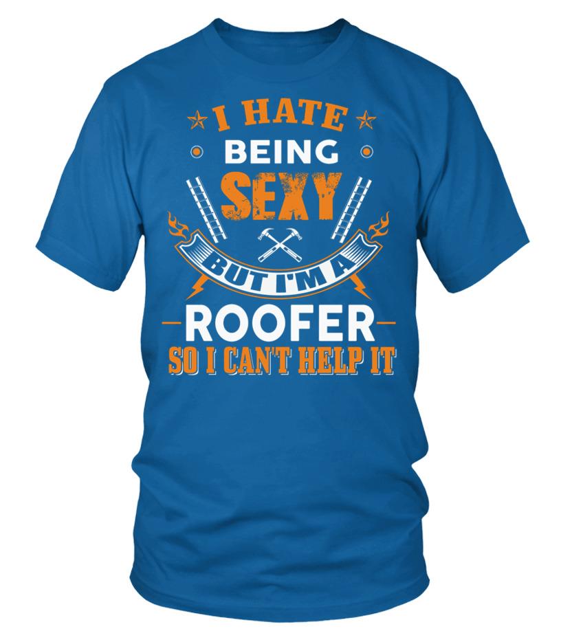 Funny Roofer - ROOFER Round neck T-Shirt Unisex