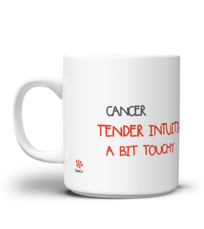 Cancer Kitty Mug - Tazza del segno del Cancro