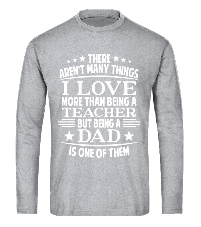 Awesome Father T-Shirt - Teacher Dad Long sleeved T-shirt Unisex