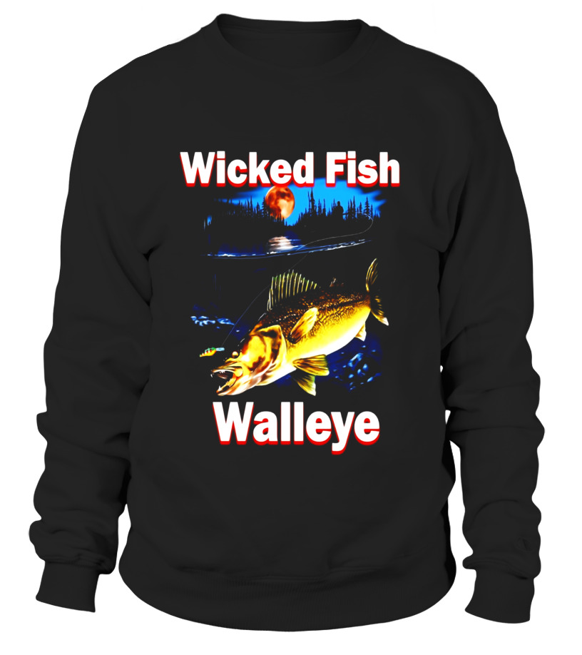 Awesome Fishing Tee Shirt Wicked Fish Walleye T Shirt Fishing Gift