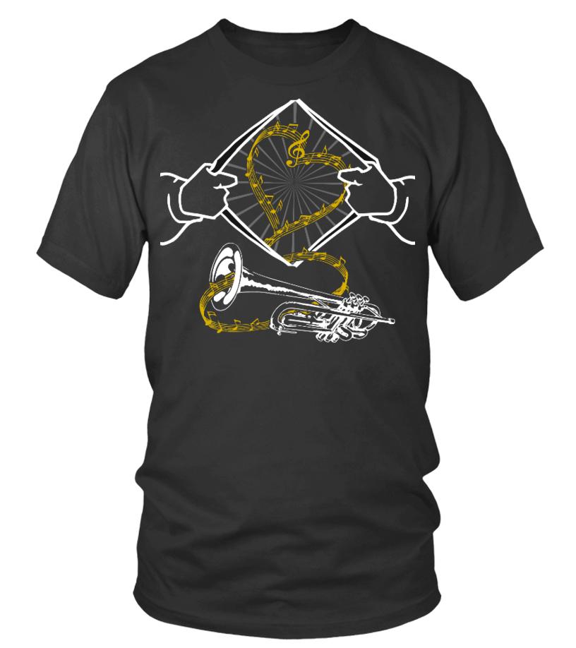Trompete Herz - T-Shirt
