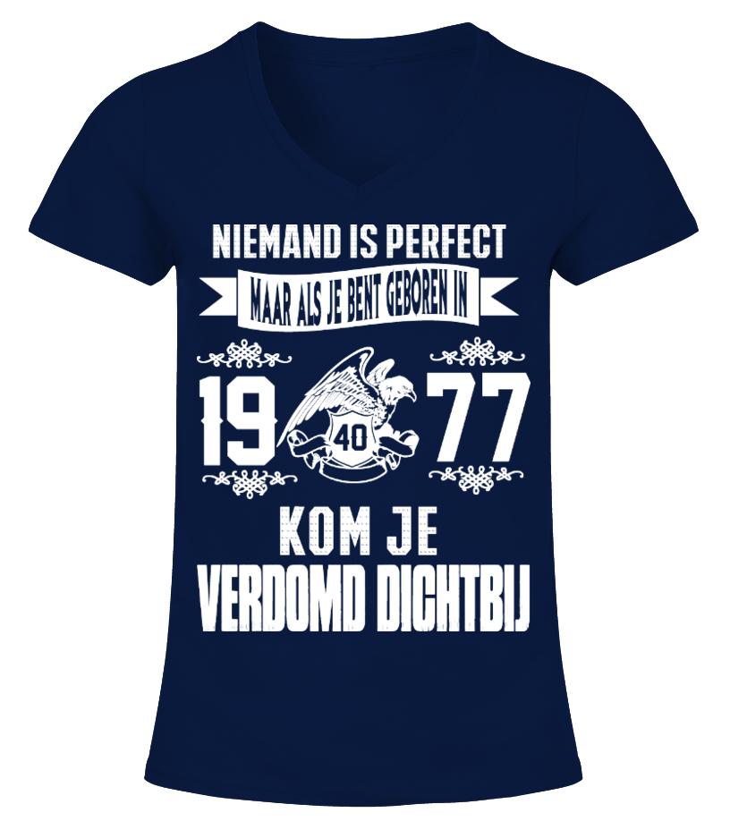 Niemand is perfect -1977-shirt