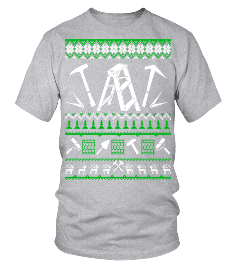 Shop Christmas - Roofer Christmas Sweater T Shirt Round neck T-Shirt Unisex