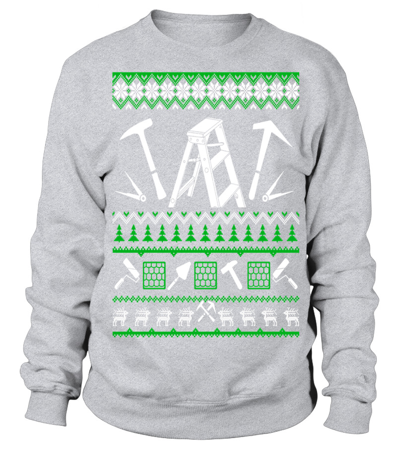Shop Christmas - Roofer Christmas Sweater T Shirt Sweatshirt Unisex