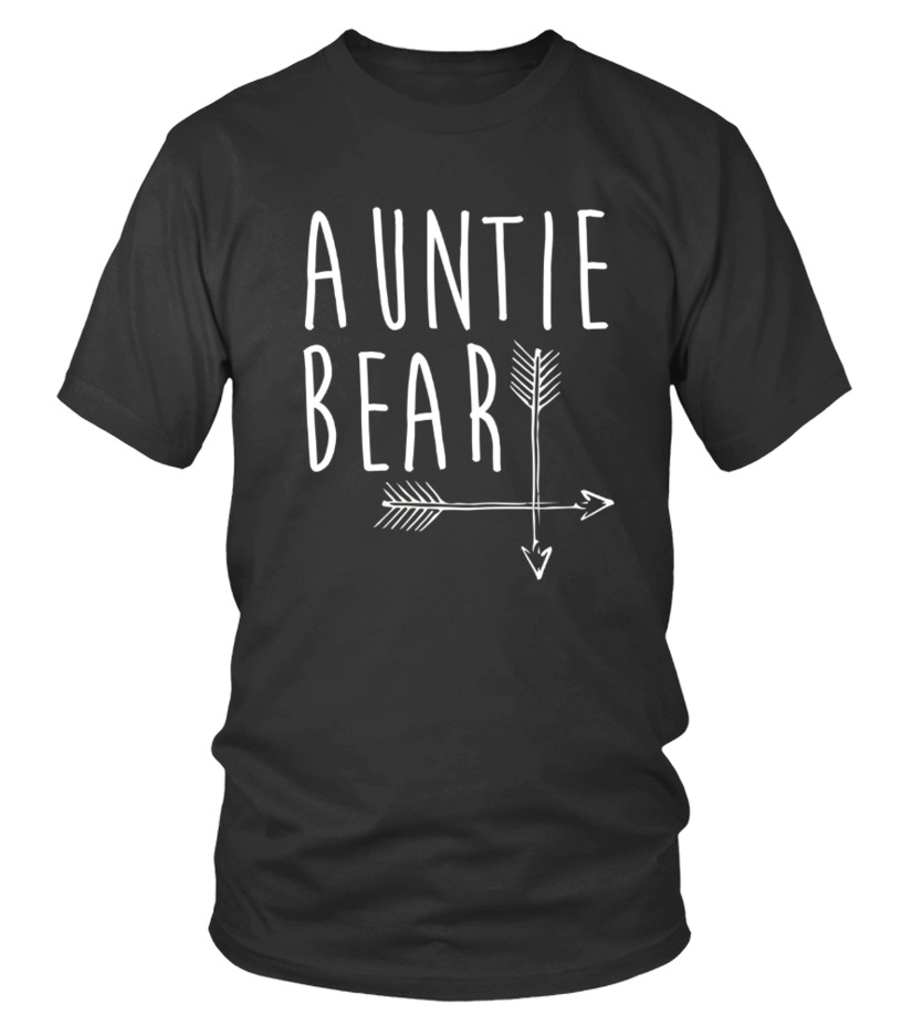 Funny Mother T-Shirt - Auntie Bear T shirt Family Portrait With Mama And Papa Bear Round neck T-Shirt Unisex