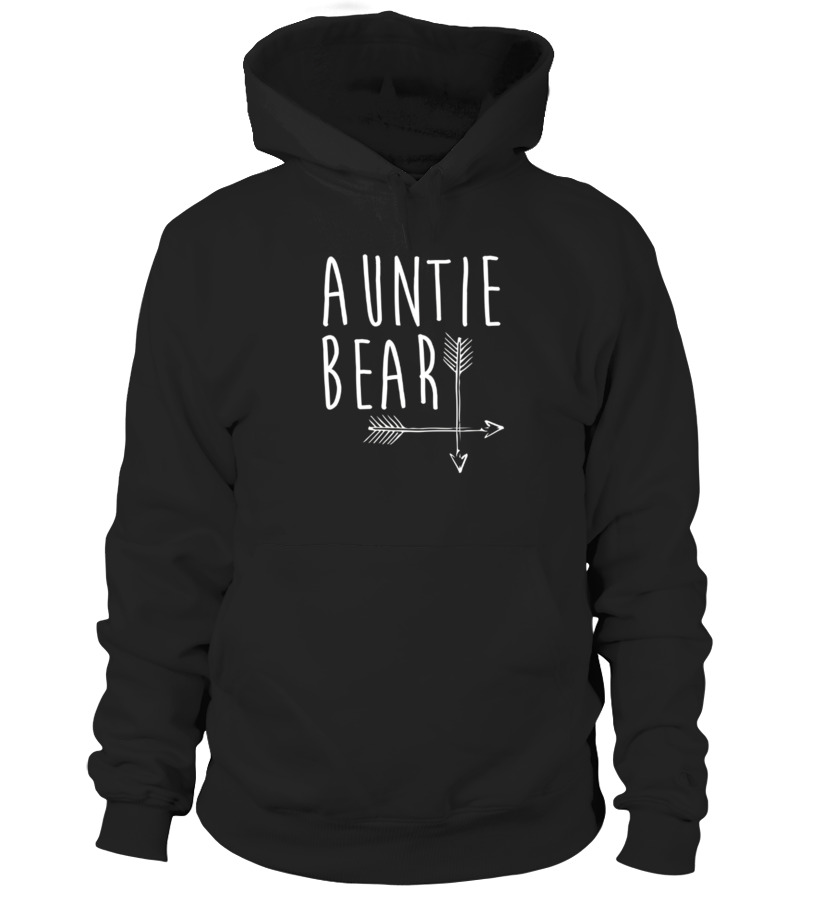Funny Mother T-Shirt - Auntie Bear T shirt Family Portrait With Mama And Papa Bear Hoodie Unisex