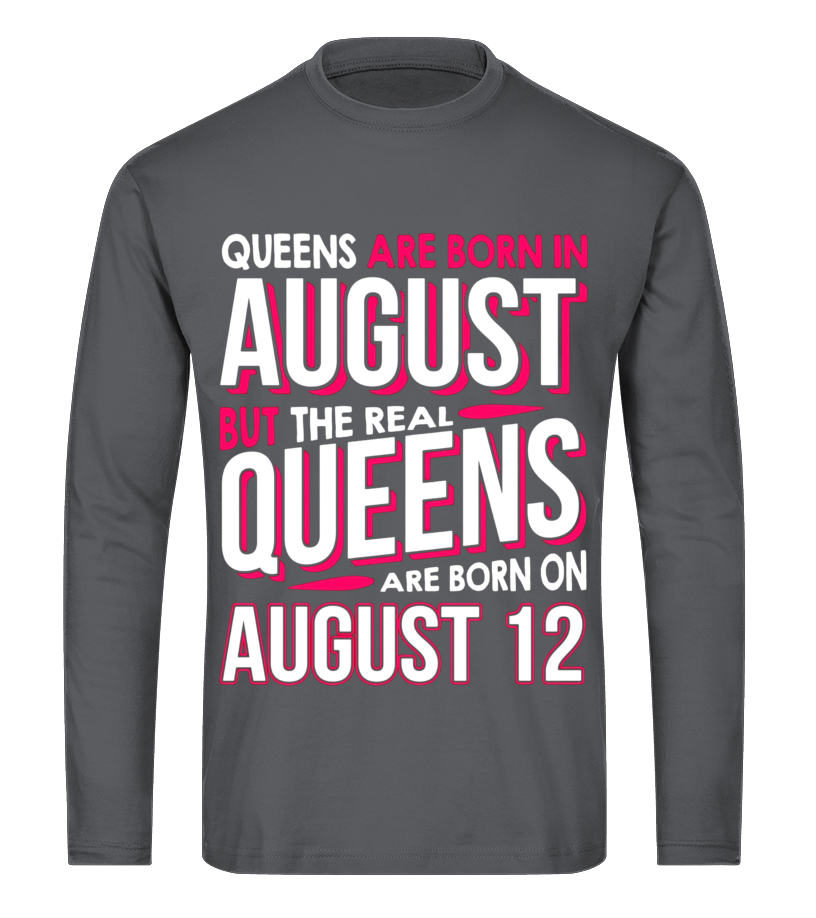40b394bdf Pets Cheetah And Lion Sweatshirts - Real Queens Are Born On August 12 T- shirt