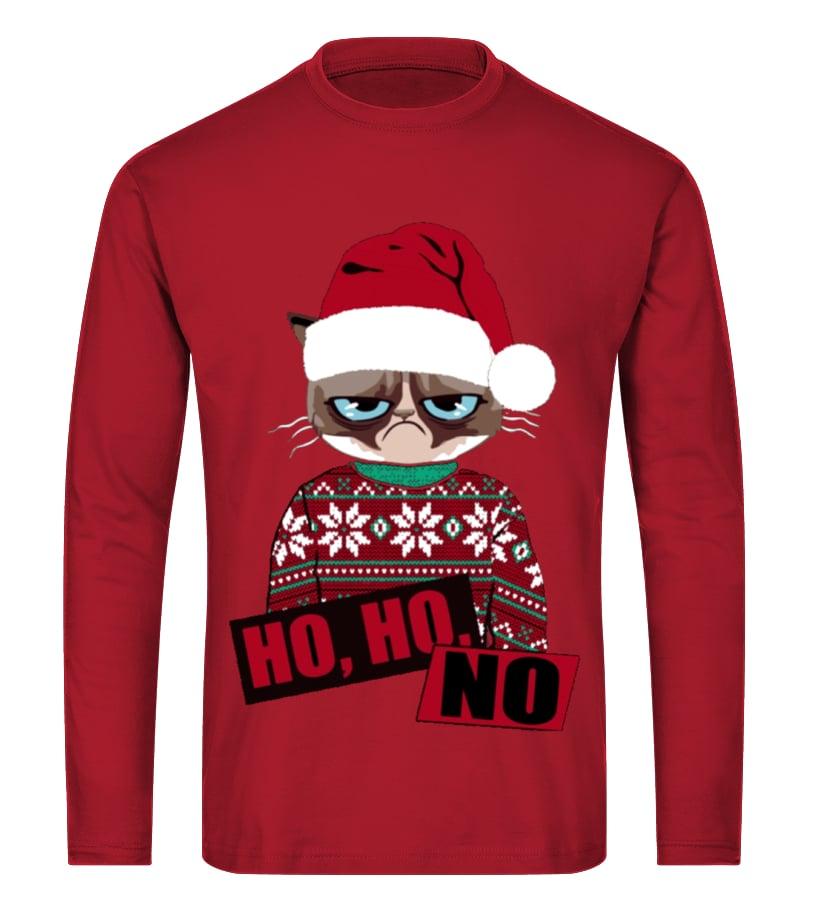 Best Christmas - Ltd Edition Ho Ho No Christmas Long sleeved T-shirt Unisex